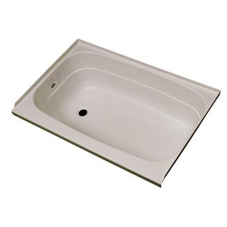 "Replacement ABS Bath Tub, 24"" x 40"", Parchment with Left Drain"