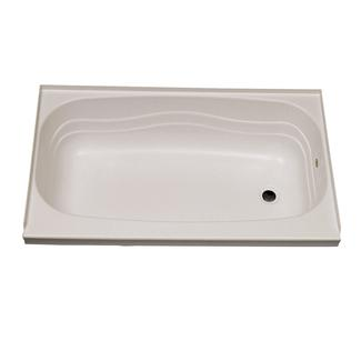 """Replacement ABS Bath Tub, 24"""" x 46"""", Parchment with Right Drain"""