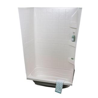 "ABS Tub Walls, 24"" x 38"" x 59"", White"