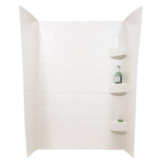 ABS Shower Walls, 24&rdquo&#x3b; x 32&rdquo&#x3b; x 66&rdquo&#x3b;, Parchment