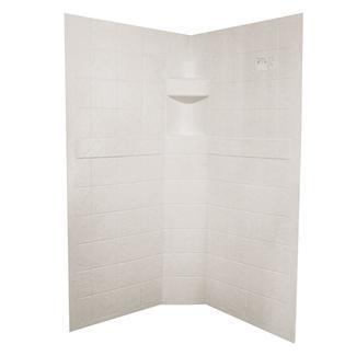 ABS Neo Shower Walls, 34&rdquo&#x3b; x 34&rdquo&#x3b; x 67&rdquo&#x3b;, Parchment
