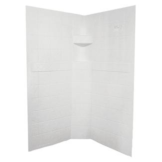 "ABS Neo Shower Walls, 36"" x 36"" x 67"", White"