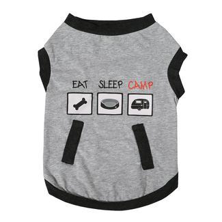Camping Pet Tee, Large