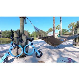 Jupiter Smart Folding Electric Bicycle, Cadet Blue