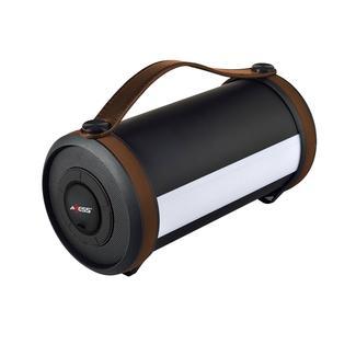 Axess Bluetooth Media Speaker with LED &amp&#x3b; RGB Light, Brown