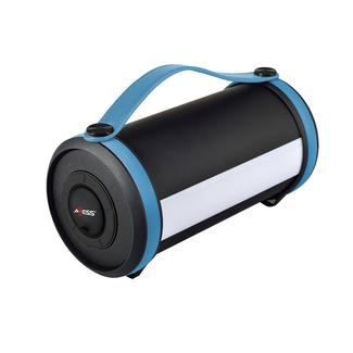 Axess Bluetooth Media Speaker with LED & RGB Light, Blue