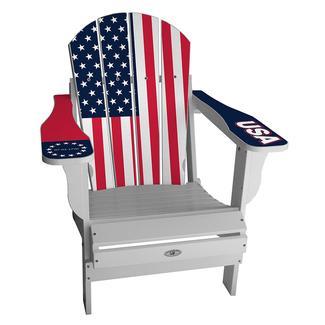 USA Flag Chair, White