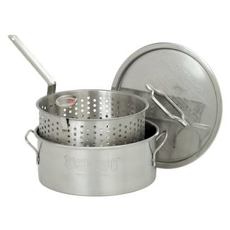 Bayou Classic&reg&#x3b; 10-qt Stainless Fry Pot With Lid &amp&#x3b; Thermometer