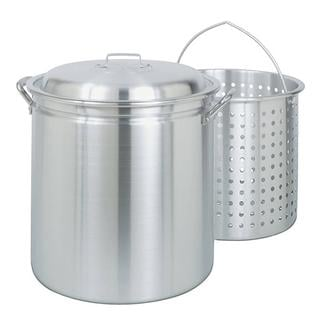 Bayou Classic® 60-qt Aluminum Stockpot with Lid and Basket