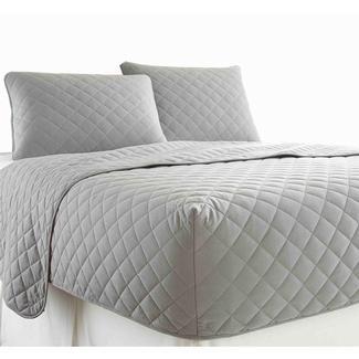 Micro Flannel&reg&#x3b; RV Bedspread, Short Queen - Gray