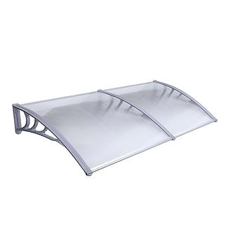 ALEKO 40 x 80 Inches Polycarbonate Outdoor Window Door Canopy Awning Cover, Gray