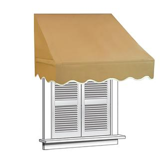 ALEKO 6x2 Sand Window Awning Door Canopy 6-Foot Decorator Awning