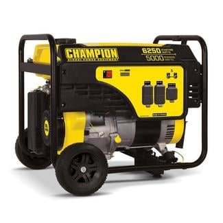 Champion 5000/6250-Watt Gasoline Powered Recoil Start Portable Generator