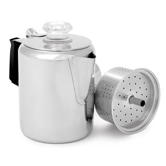 9-Cup Stainless Steel Percolator with Silicone Handle