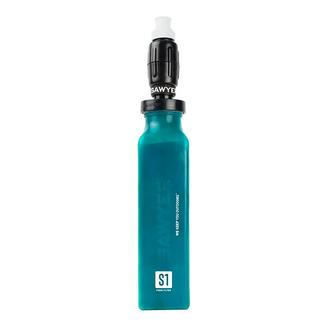 Foam Water Filter and 20-oz., Green Bottle