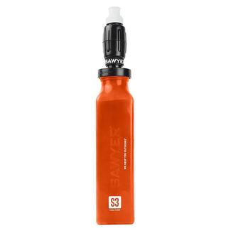 Foam Water Filter and 20-oz. Orange Bottle