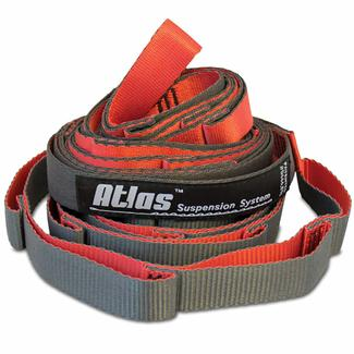ENO Atlas Chroma Suspension Straps System, Red/Charcoal
