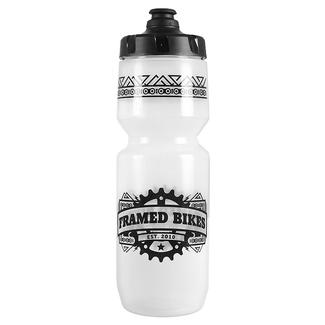 Framed Bikes Team Purist Water Bottle, 26 oz., Clear/Black