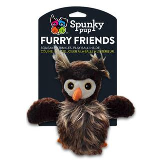 Spunky Pup Owl with Squeaker Ball