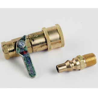Propane/Natural Gas Connector Kit w/ Shutoff Valve