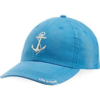 Life is Good Anchor Sunwashed Chill Cap