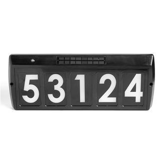 Solar Illuminated Address Sign