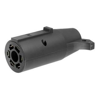 7-Way RV Blade to 6 Way Round Adapter