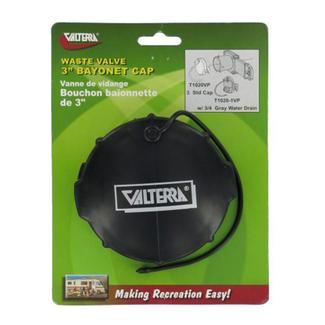 Waste Valve Cap, 3&quot&#x3b;  Bayonet, Black, Carded