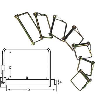 """Trailer Coupler Safety Pin Clip, ¼"""" x 3"""""""