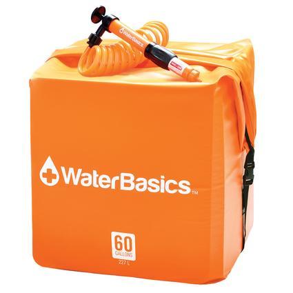 waterbasics water storage kit with filter 60 gallon aquamira