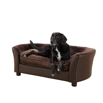 Ultra Plush Panache Pet Sofa, Dark Brown