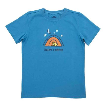 Life is Good Boys Happy Camper Crusher Tee, Small