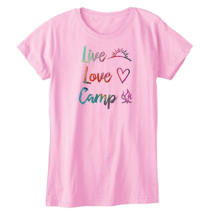Womens Life Is Good- Live, Love, Camp, L