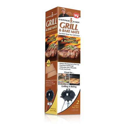 Copper Chef Grill Amp Bake Mat 2 Pack Tristar Products