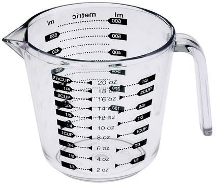 2 1/2-cup Acrylic Measuring Cup