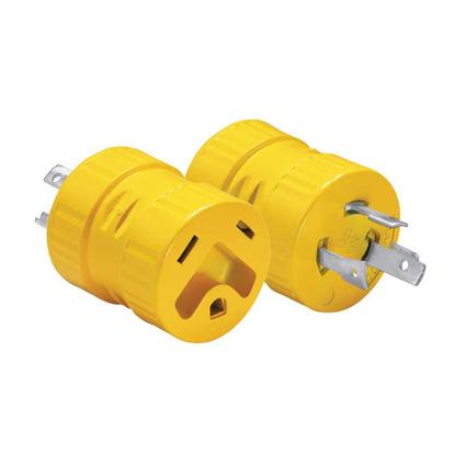 One-Piece Generator Adapter, 30 Amp 3-Prong Male to 30 Amp Female