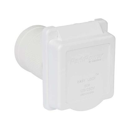 Weekender by ParkPower Electrical Inlet, 50 Amp White Inlet