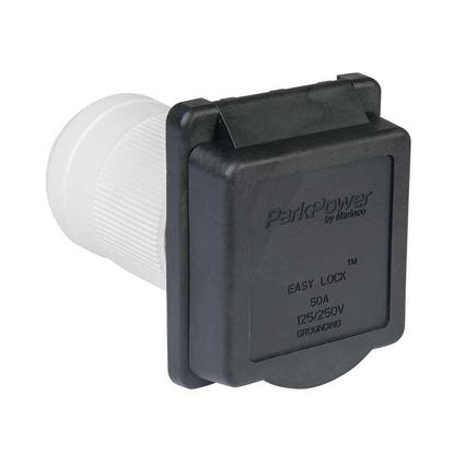 Weekender by ParkPower Electrical Inlet, 50 Amp Black Inlet