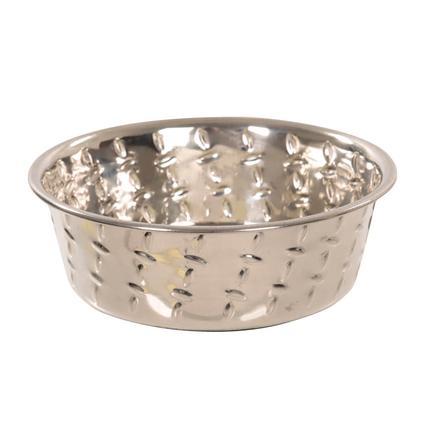 Ruff N Tuff Diamond Plate Dog Bowls, 1 Pint