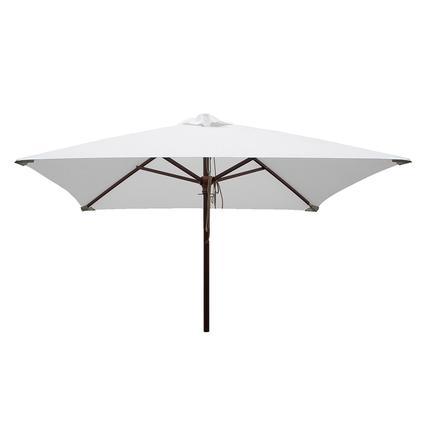 Classic Wood Square Patio Umbrella - Natural, 6.5'