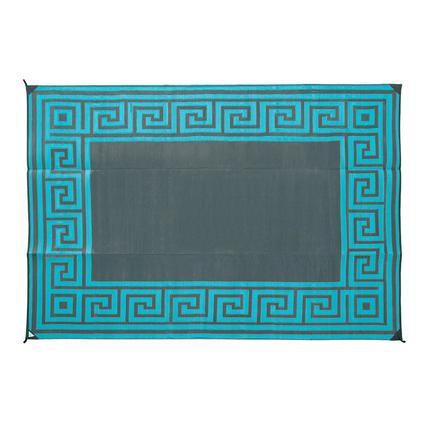 Reversible Greek Design Patio Mat 9 X 12 Teal Direcsource Ltd