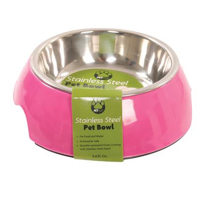 Small Pet Bowl, Fuschia