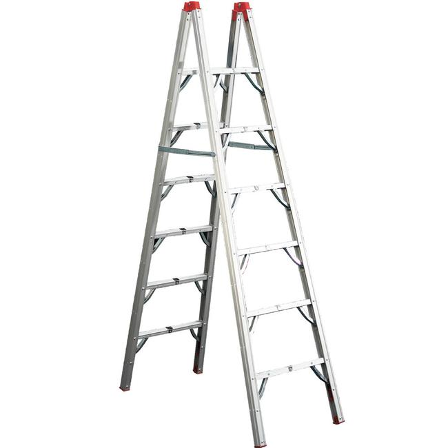 7\' Double-Sided Rung Ladder - GP Logistics SLD-D7 - Ladders ...