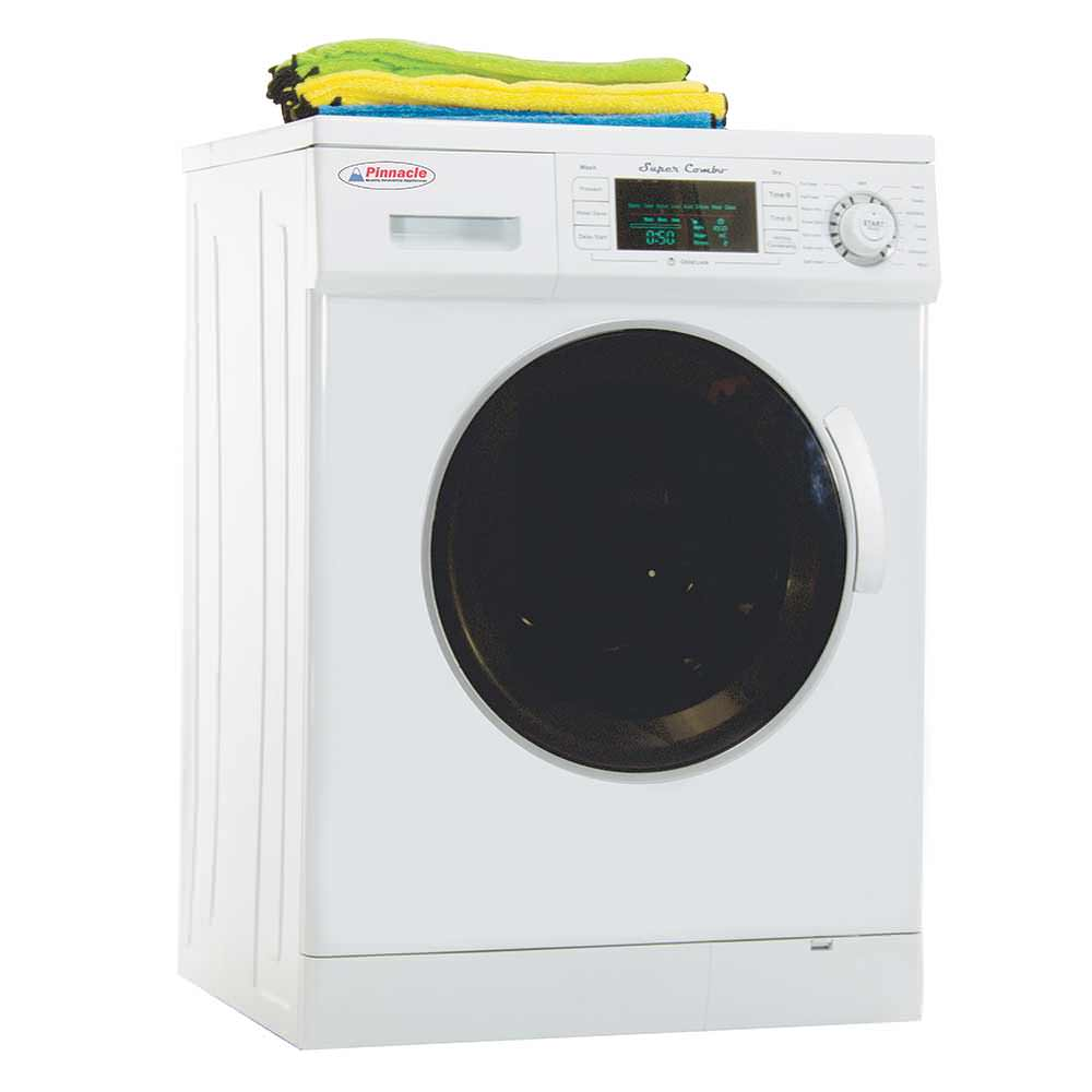 Pinnacle Super Combo Washer Dryer 4400 With Automatic Water Level Push In Fuse Box House For And Sensor Dry White Appliances 18 4000 W Combos Camping