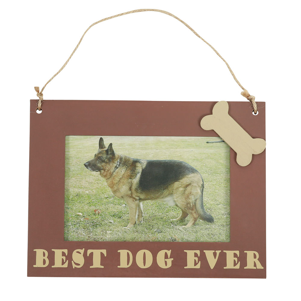 Pet Picture Frame Hanging 6 X 8 Brown Best Dog Ever