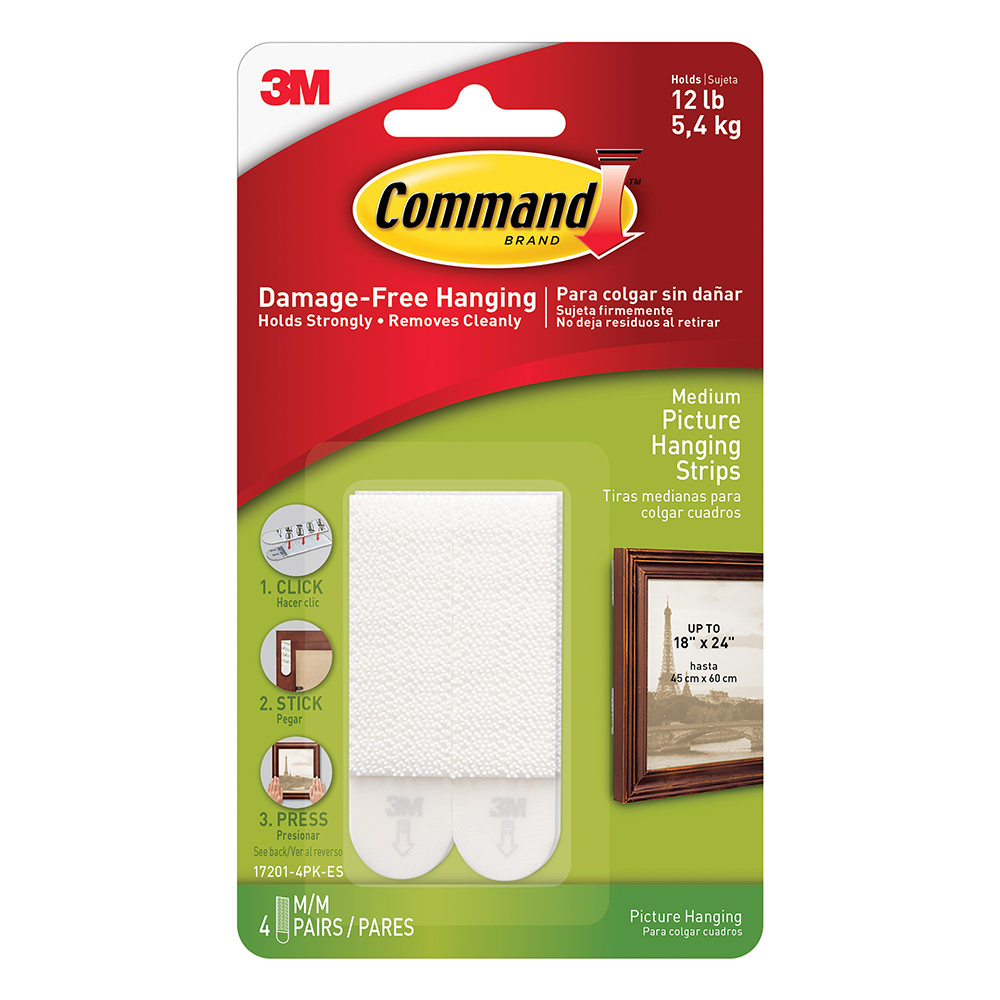 Command Picture Hanging Strips 4 Pack 3m 17201 4pk Es Racks The Tailgate Strip Also Gives You Option Of Hard Wiring Hooks Holders Camping World