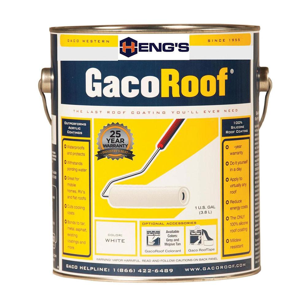 Heng's GacoRoof 100% Silicone Roof Coating, Gallon - Heng ...