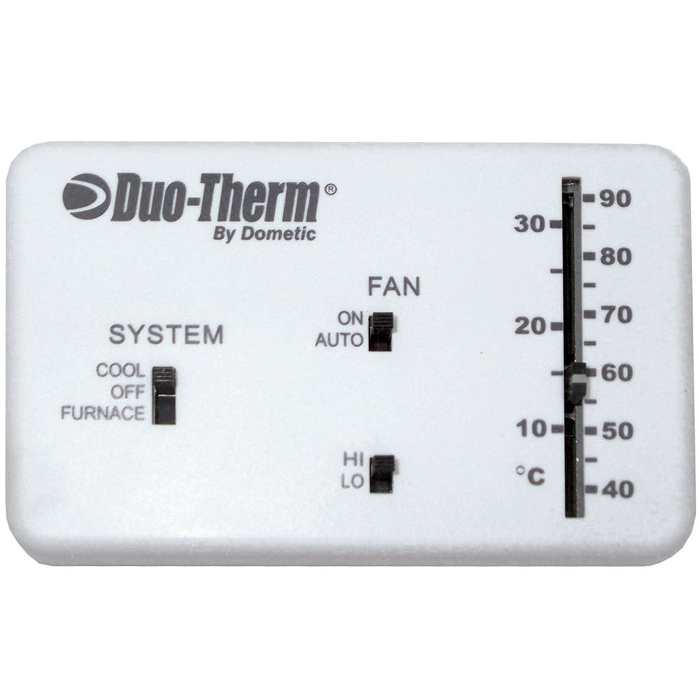 Analog Thermostat, Cool/Furnace/Fan - Dometic 3106995.032 ...