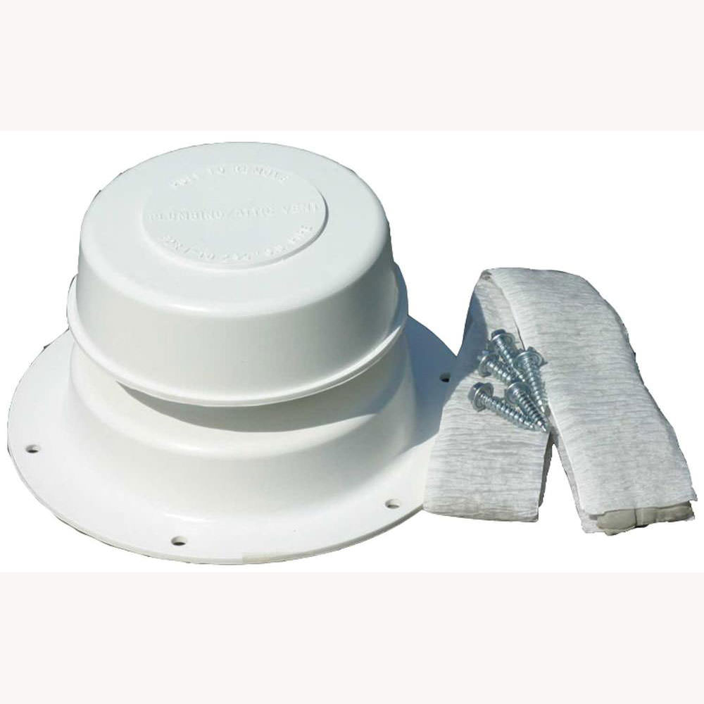 Replace All Plumbing Vent Kit Polar White Camco 40033