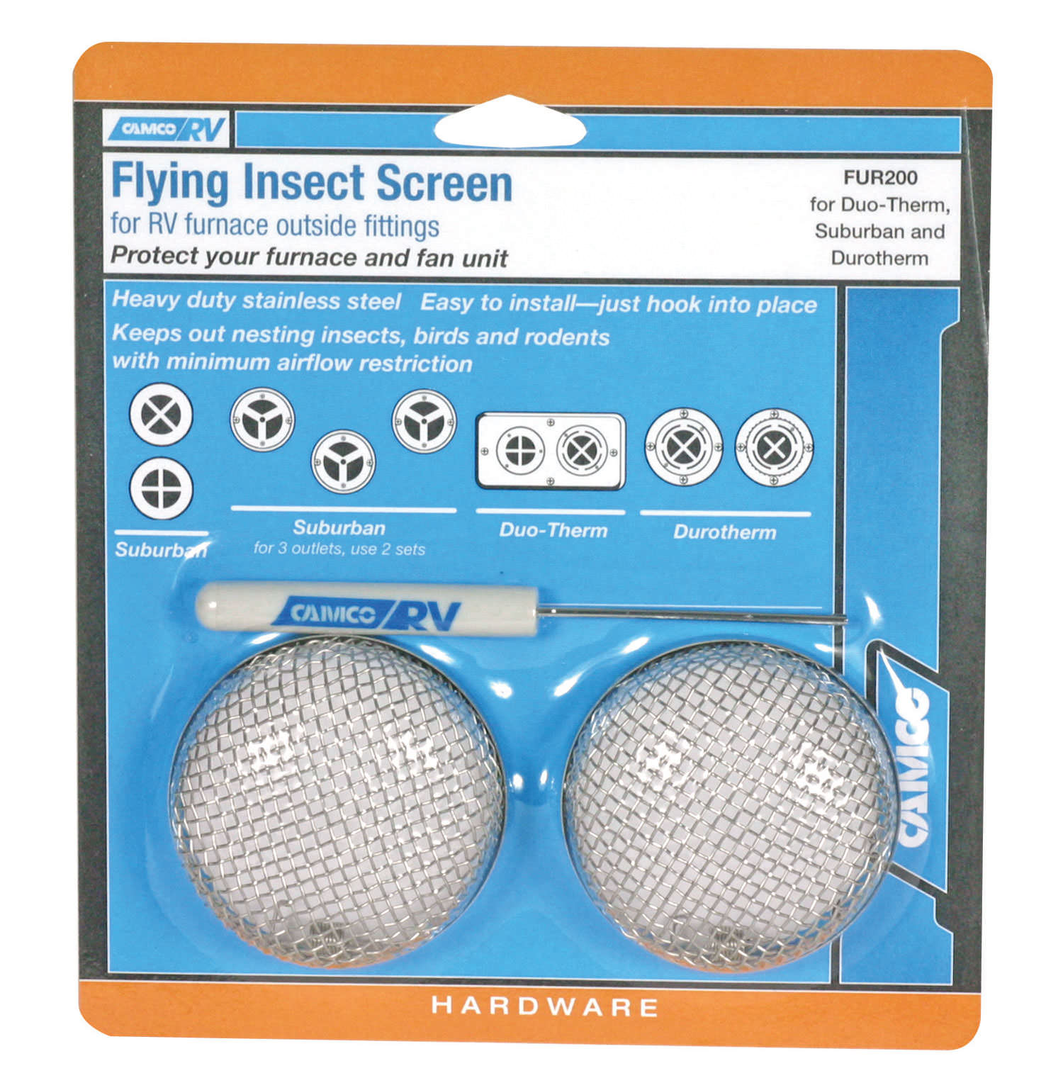 Flying Insect Screen For Duo Therm Suburban And Durotherm Furnaces Rv Furnace Troubleshooting Camco 42141 Control Camping World